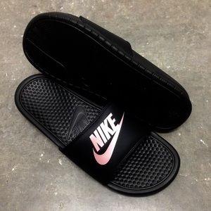 a551f8c75f7b Nike Shoes - WMNS NIKE BENASSI SLIDES JUST DO IT JDI BLACK ROSE